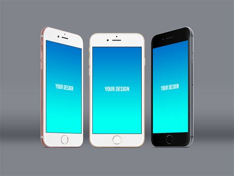 free standing apple iphone 6s plus mockup psd mockups