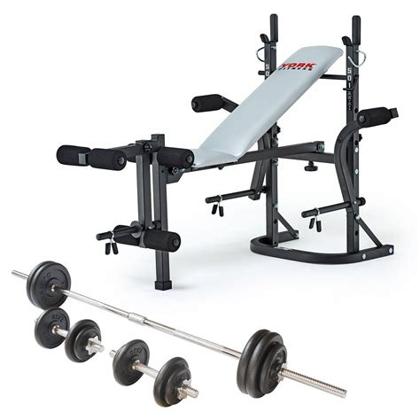 weight bench and weight set york b501 weight bench and viavito 50kg cast iron weight set