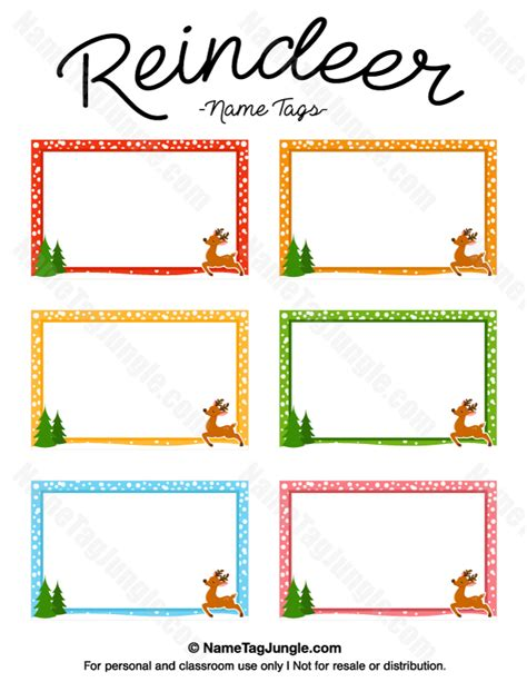 printable reindeer names free printable reindeer name tags the template can also