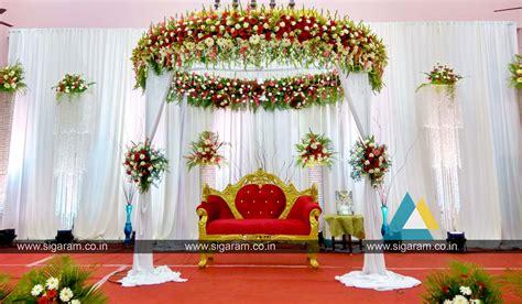 decoration ideas reception reception stage decoration at kandhan thirumana