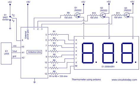 high temperature digital and analogue integrated circuits in silicon carbide digital thermometer using arduino celsius and fahrenheit scales three digit display