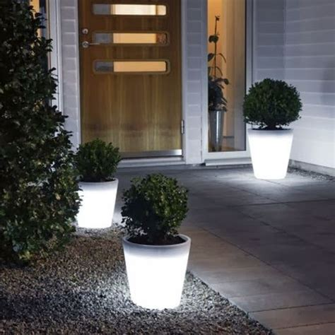 Glow In The Planter by 20 Inspirational Garden Lighting Ideas Ultimate Home Ideas