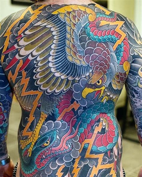 japanese eagle tattoo