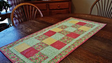 Patchwork Table Runner - quilted table runner table runner quilted patchwork runner