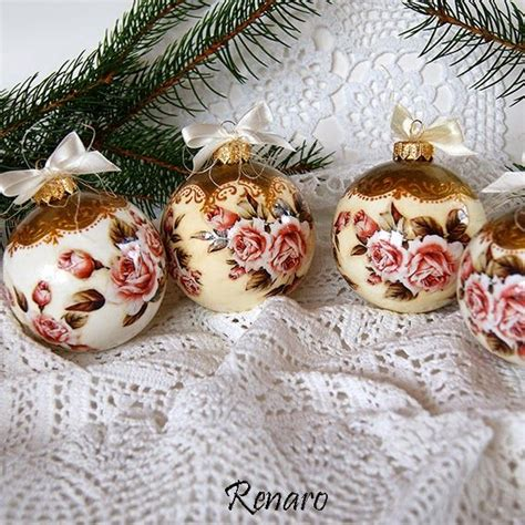 Decoupage Ornaments - 17 best images about decoupage balls on