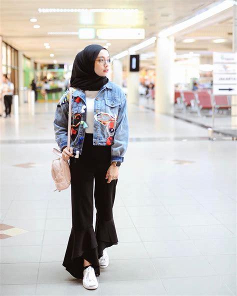 Jaket Outer Denim Jacket Wanita Kekinian Unik Model Gaya Terbaru 30 inspirasi fashion selebgram 2018