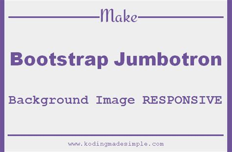 how to make background image responsive make bootstrap jumbotron background image responsive