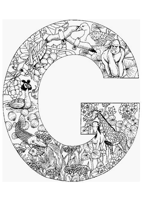 mandala coloring pages letters la lettre g en coloriage attention au d 233 schemat