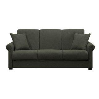 sleeper sofa overstock portfolio convert a charcoal gray linen futon