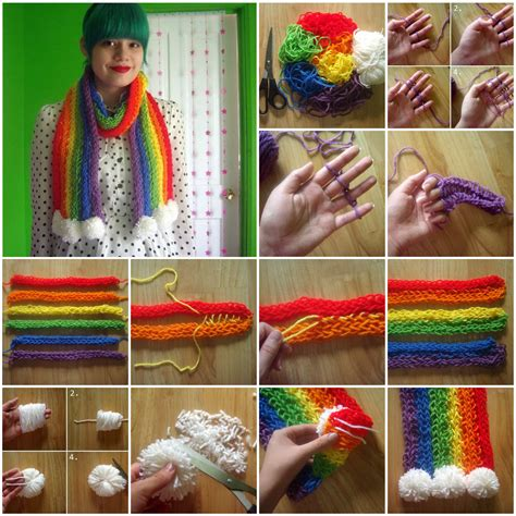 how to knit on your fingers how to knit a scarf with your fingers pictures photos