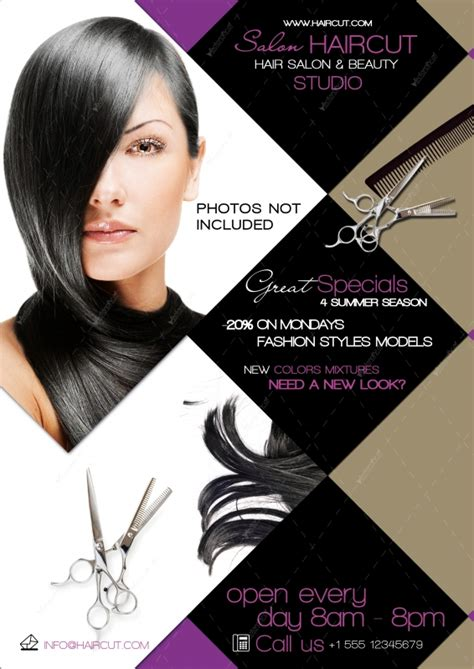 12 Hair Salon Flyer Psd Images Hair Salon Flyer Templates Free Hair Salon Flyer Templates Hair Design Templates