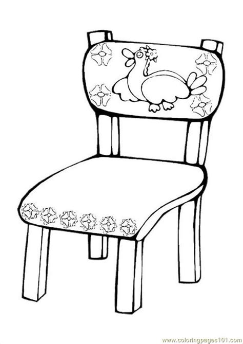 ures pages photo chair p coloring page free furnitures