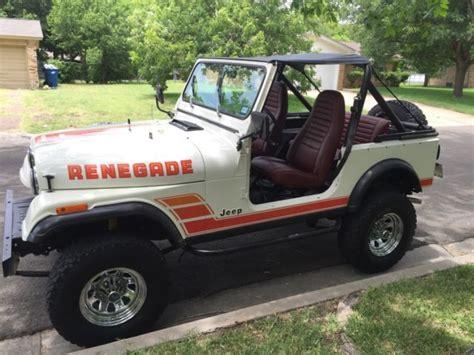 jeep cj renegade for sale 1984 jeep cj7 renegade for sale photos technical