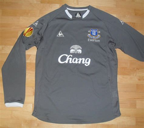 Tshirt Viol Nc Buy Side everton goalkeeper voetbalshirt 2009 2010 sponsored by