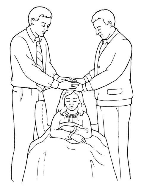 lds coloring pages blessings priesthood blessing for the sick