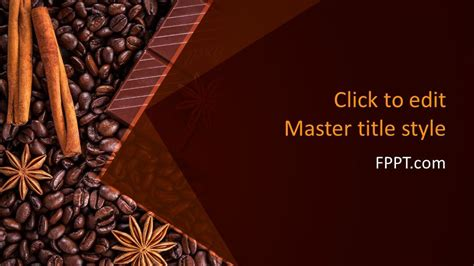 Free Chocolate Grains Powerpoint Template Free Powerpoint Templates Chocolate Powerpoint Template