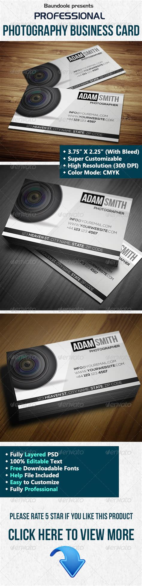 professional photographer business card templates print templates professional photography business card