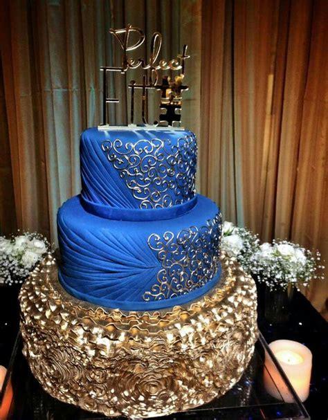 royal blue  gold cake royal blue cake royal cakes