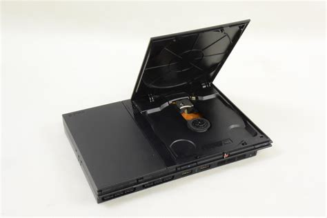 ps2 console ps2 slim console system charcoal black scph 70000