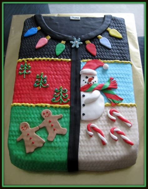 how to decorate an ugly sweater christmas cake best