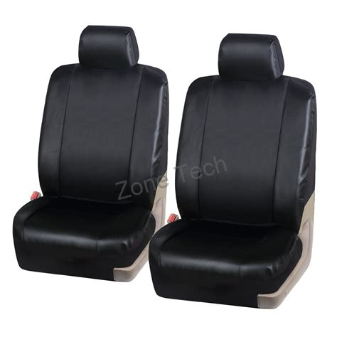 Leather Seat Covers by Zone Tech Classic Leather Universal Car Seat Covers Airbag