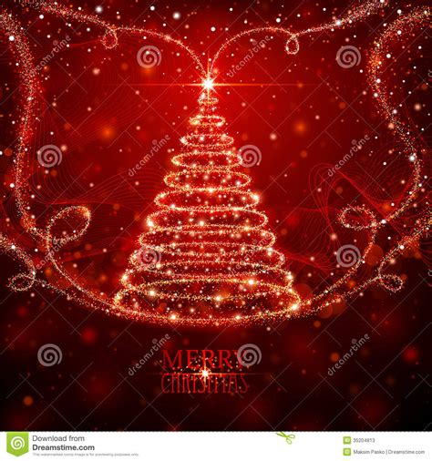 magic christmas tree stock vector image of merry holiday