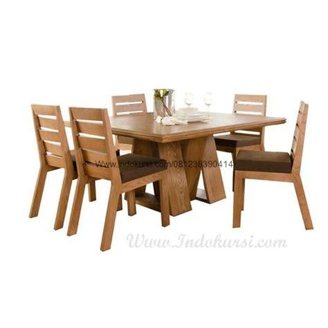 Meja Makan Jati Tebal meja makan minimalis kayu jati ik 08 indo kursi mebel indo kursi mebel