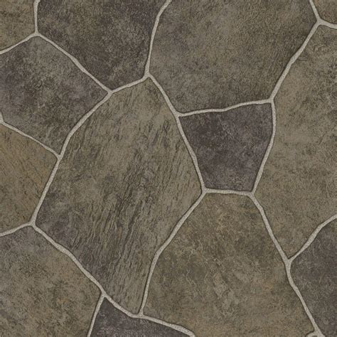 trafficmaster natural paver  ft wide vinyl sheet
