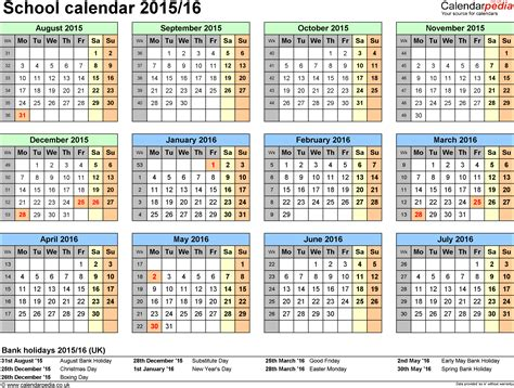 school calendars printable word templates
