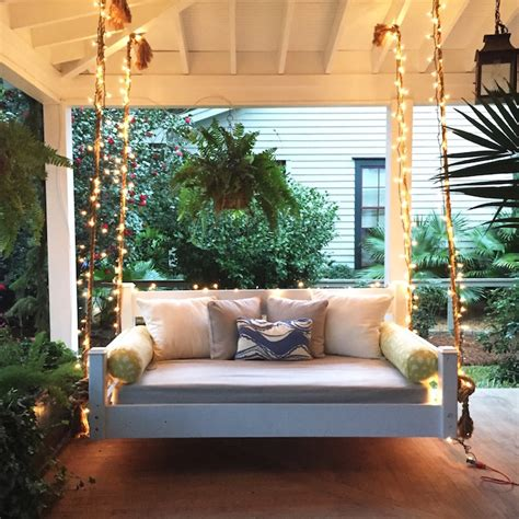 outdoor porch swing bed swing bed front porch christmas holiday pinterest