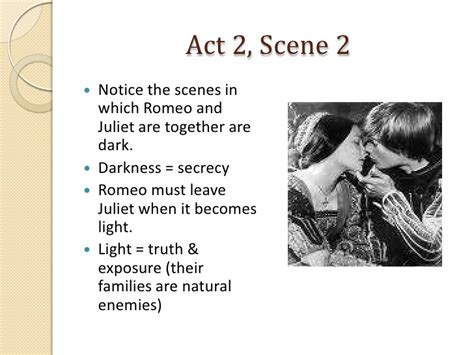 Romeo and Juliet Act 2, Scenes 1 2 Notes
