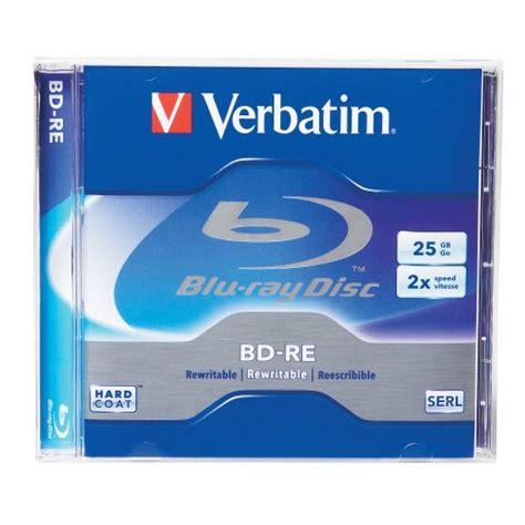 Panasonic Blueray Disk Media 25gb T2909 verbatim bd re x1 25gb player review