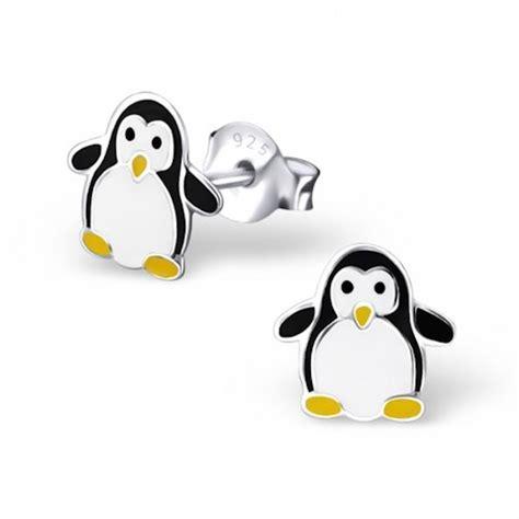 Penguin Earrings monty sterling silver penguin earrings by neko