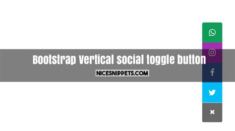 bootstrap layout vertical center vertical social toggle button design using bootstrap