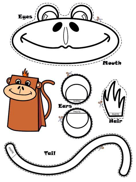 monkey paper bag puppet template daum 블로그 이미지 원본보기 craft monkey
