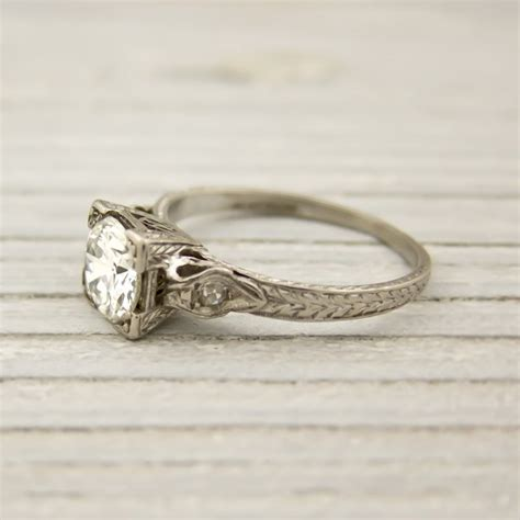vintage 90 carat engagement ring by