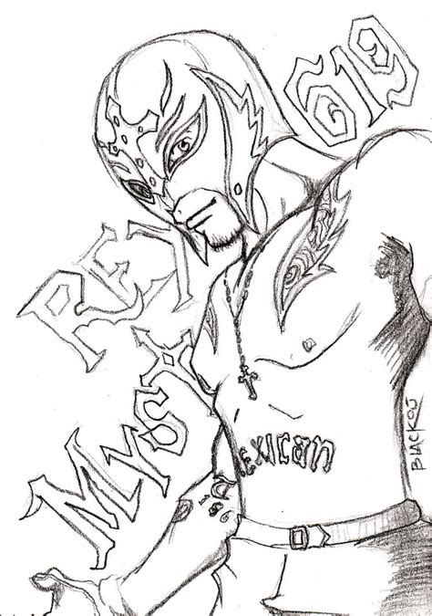 rey mysterio by 666blackout666 on deviantart