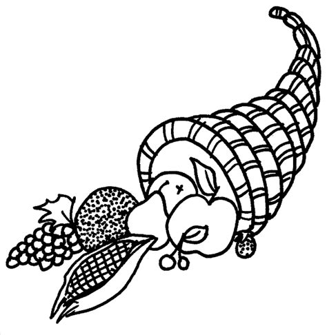 cornucopia basket coloring page thanksgiving cornucopia coloring pages kentscraft