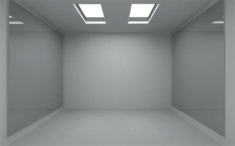room 3d 1680x1050 minimalistic mirrors room empty room