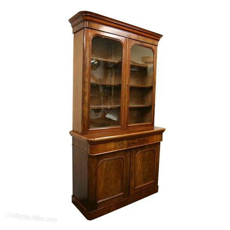Bookcase Cabinets With Doors 2 Door Cabinet Bookcase Antiques Atlas