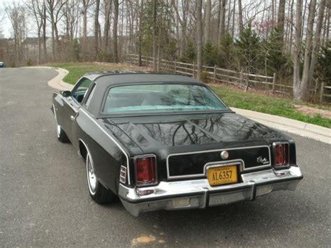 1977 Chrysler Cordoba For Sale by 1977 Chrysler Cordoba Black T Top Classic Chrysler