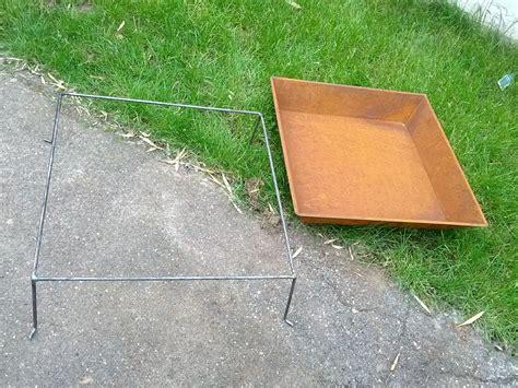 feuerschale rechteckig 60cm feuerschale pflanzenschale rechteckig mit 55cm