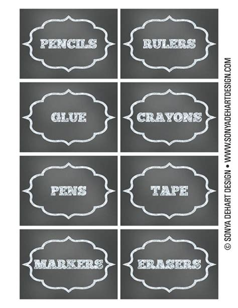 printable calendar labels free printable chalkboard teacher school supply labels