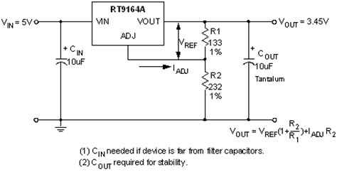 an output capacitorless low dropout regulator with direct voltage spike detection rt9164a 1a fixed and adjustable low dropout positive voltage regulators richtek technology