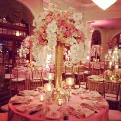 Banquet Size Table Linens - pink coral champagne and gold centerpiece phalo orchids love centerpieces pinterest
