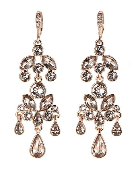 Gold Tone Chandelier Earrings Lyst Givenchy Gold Tone Chagne Chandelier Earrings In Metallic