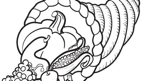 cornucopia basket coloring page thanksgiving cornucopia coloring pages free festival