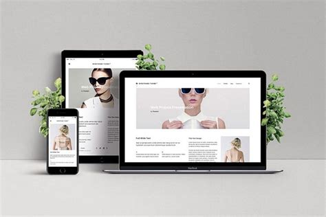 how to customize a website mockup template design shack