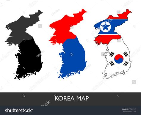 South Korea Address Lookup Abstract Vector Korea Map 3 Design 255622315