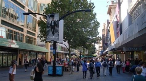 rundle mall the pedestrian only shopping street of